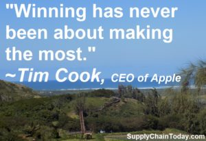 CEO Tim Cook Apple Supply Chain