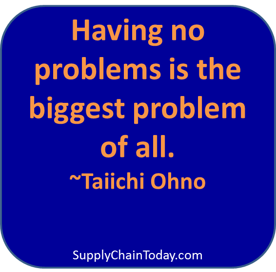 Toyota Production System Taiicho ohno problem quote