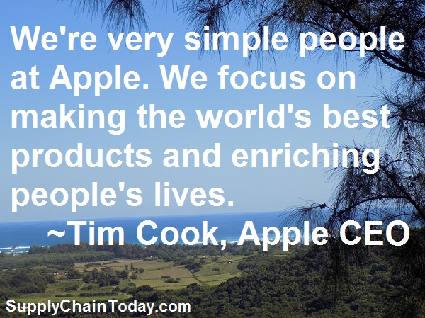 Apple CEO Tim Cook Supply Chain Chief Procurement Officer
