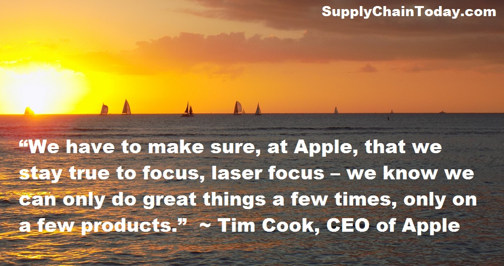 Tim Cook CEO Apple Supply Chain quote