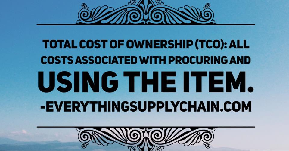 supply chain total cost of ownership