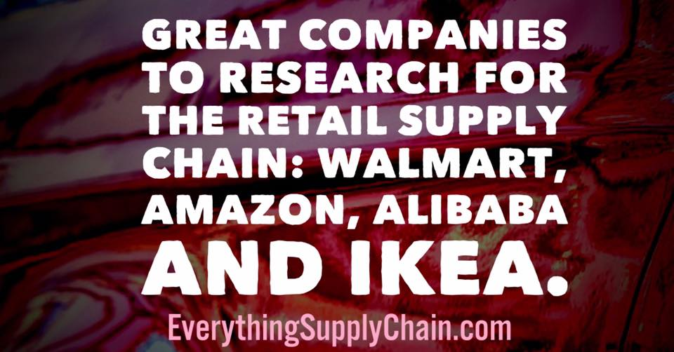 Amazon Alibaba Ikea Walmart Supply Chain