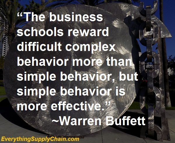 supply chain warren buffet mba quote