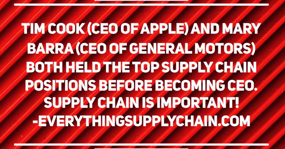 tim cook mary barra supply chain ceo