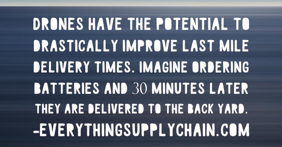 supply chain drones technology