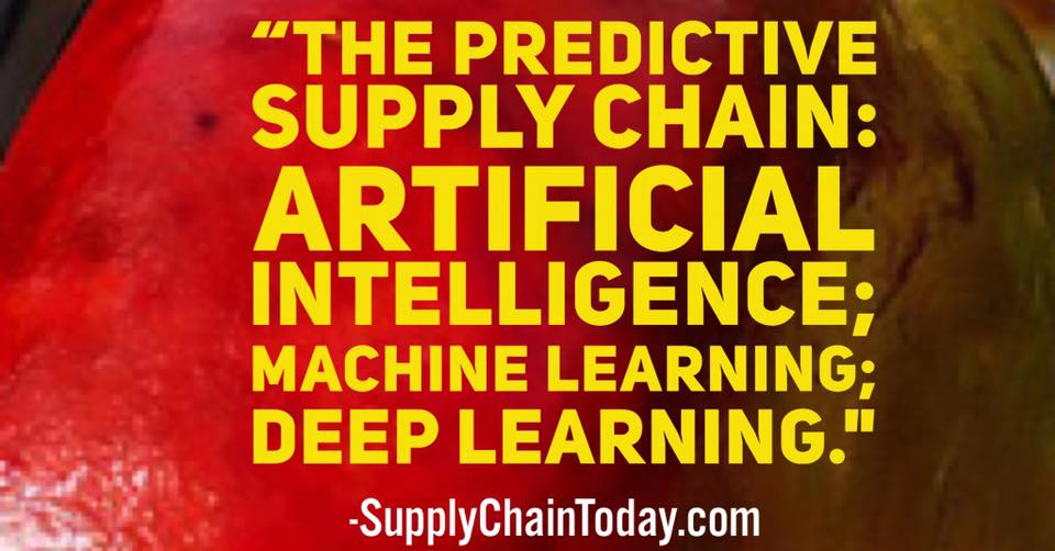 predictive supply chain artificial intelligence machine learning