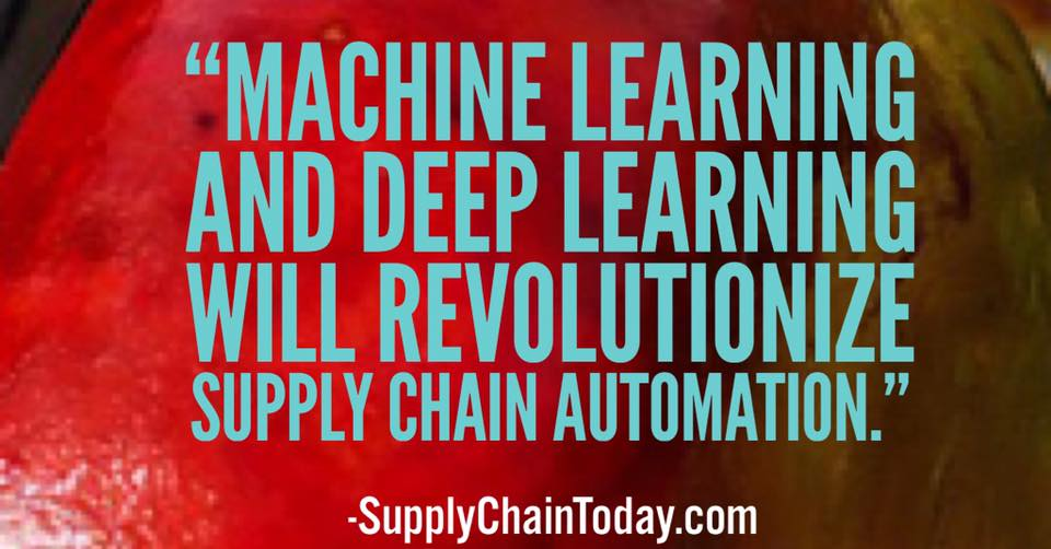 machine learning supply chain automation deep learning
