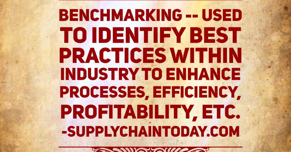 supply chain benchmarking