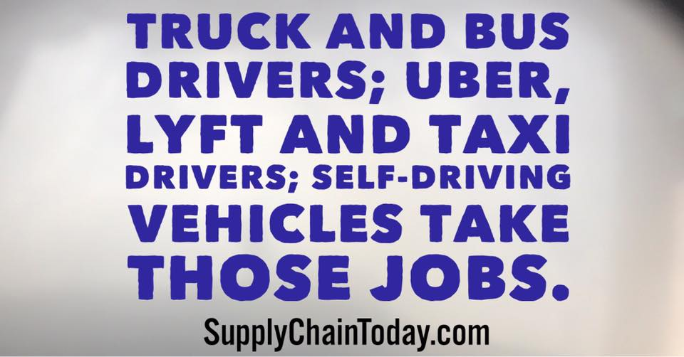 supply chain automation uber self driving vehicles
