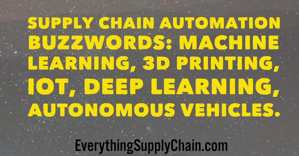 supply chain automation deep learning