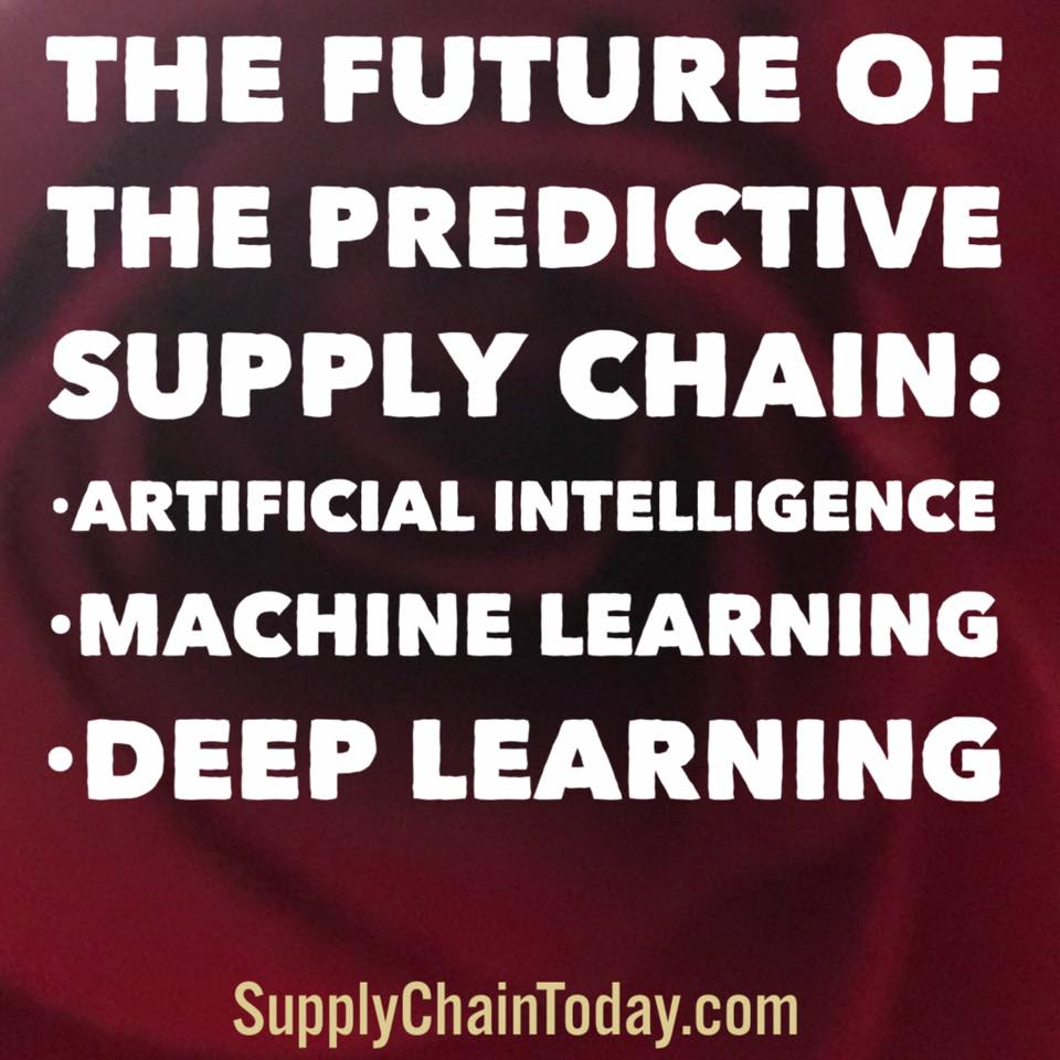 artificial intelligence machine learning deep learning supply chain