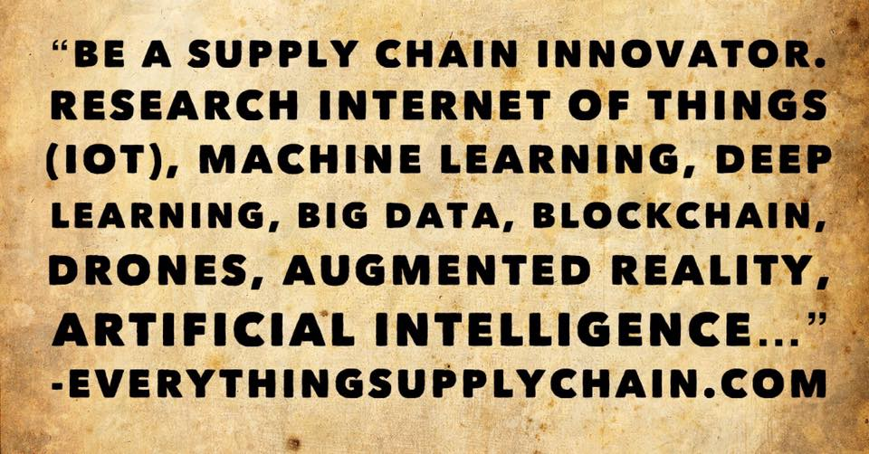 supply chain artificial intelligence machine learning deep learning