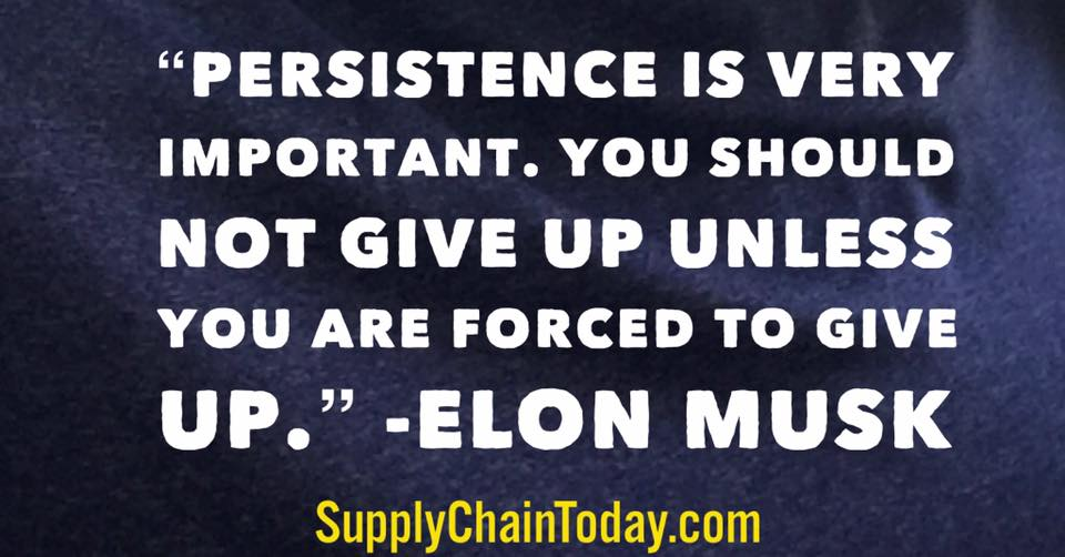 Elon Musk persistence quote
