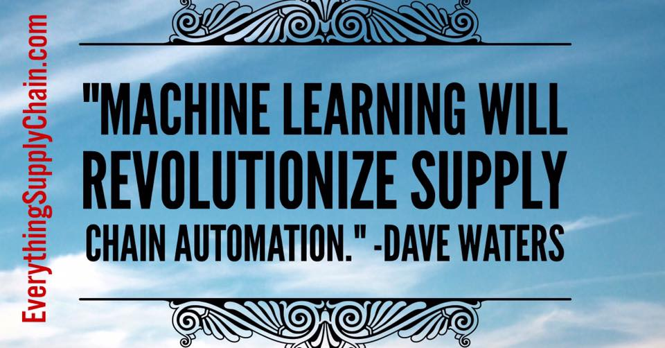 Machine Learning Supply Chain technology