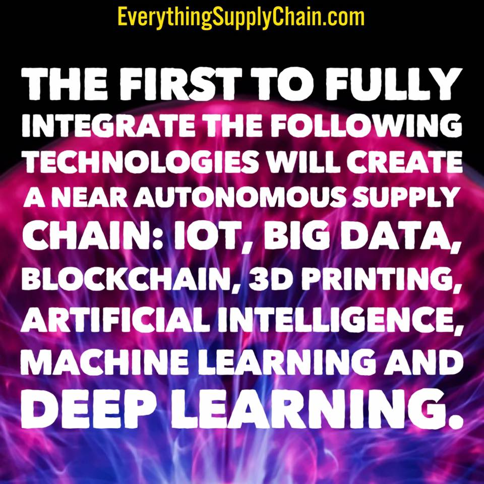 supply chain training artificial intelligence machine learning