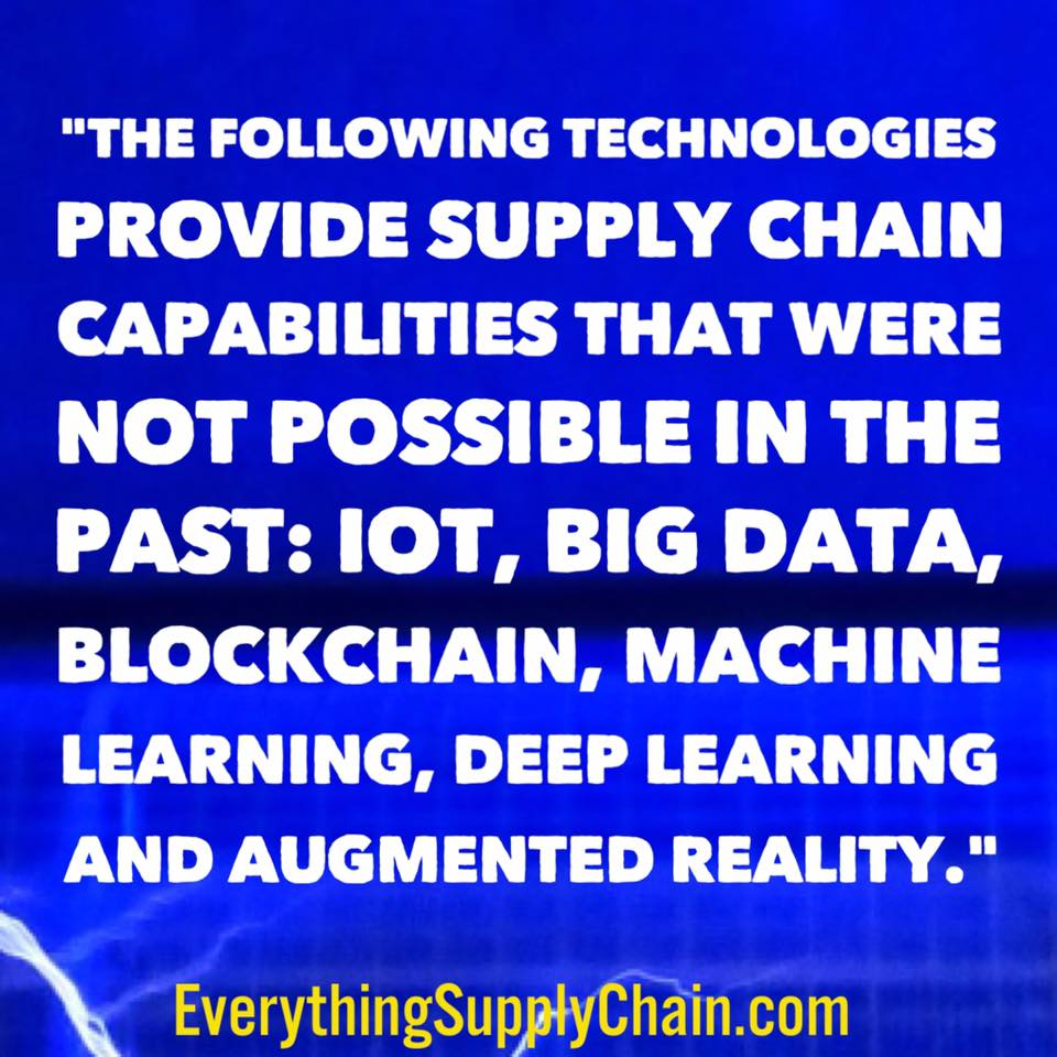 supply chain training IoT blockchain big data machine learning