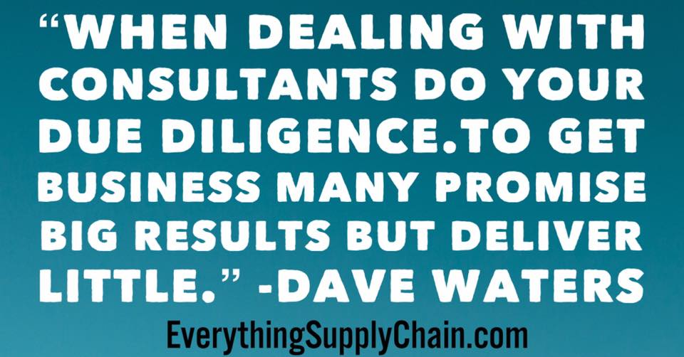 dealing with consultants supply chain
